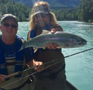 Fly Fishing rainbow trout with jasons guide service