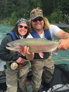 Giant Trophy Rainbow Trout with Jasons Guide Service