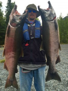 Silver Salmon with Kenai River Fishing Guide Jason Lesmeister
