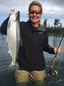 Tammy with first sockeye